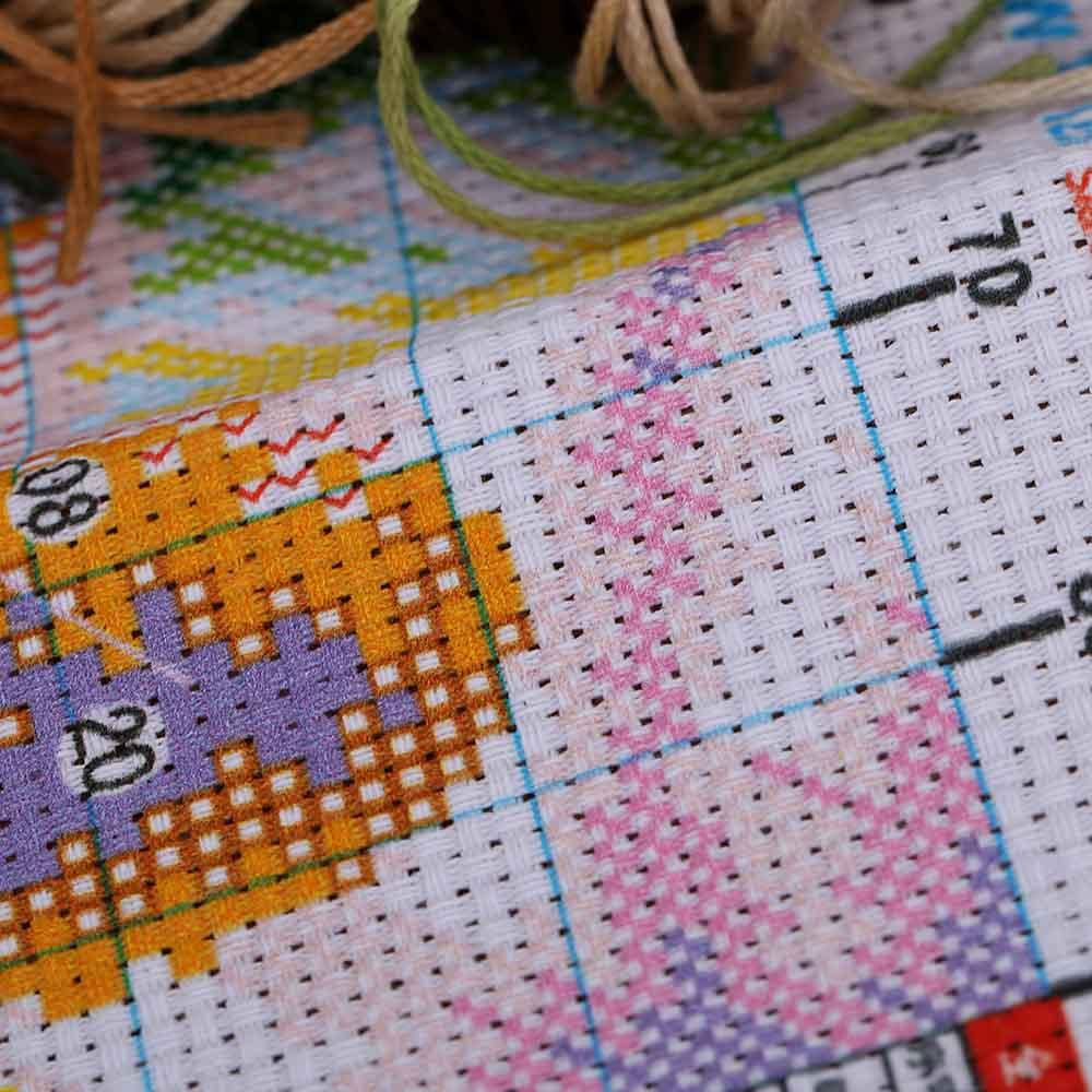 DIY Handmade Needlework Cross Stitch Set Home Decoration Precise Printed Little Leopard Design Cross-Stitching Embroidery Kit,dandys