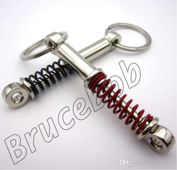 Auto Racing Tuning Part snubber Key Chain Ring Adjustable Coilover Shock Absorber Spring keyring keychain