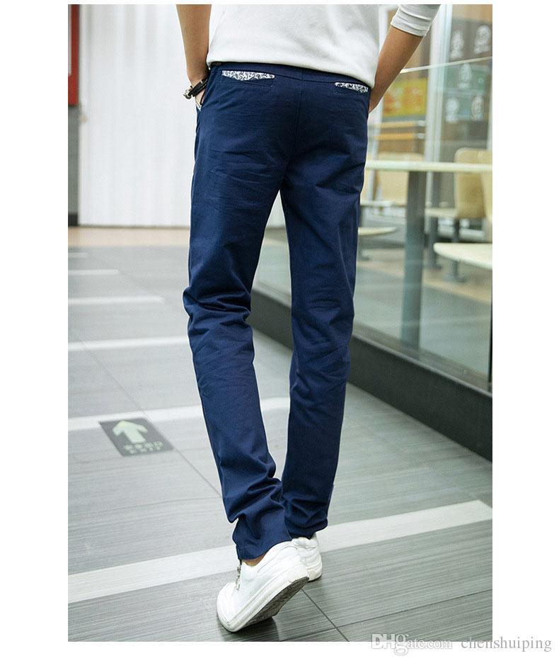 2016 New Hot Sale Men's colorful Pants Casual Straight Pants Men Slim Fit Elegant Classic Longs Mens Trousers