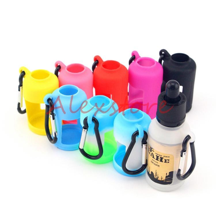 Peau de silicone pour les bouteilles liquides E Boîte de poche souple Etui de protection coloré Vitrine d'affichage Fit E Bouteille de jus 30ML Manchon en caoutchouc de silicium DHL