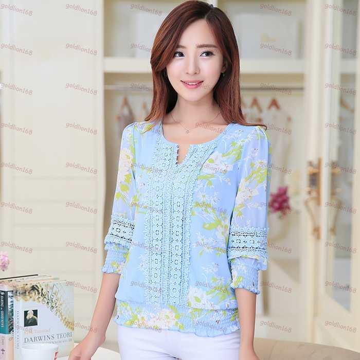 2018 Korean Style 2015 New Fashion Women Tops Hollow Out