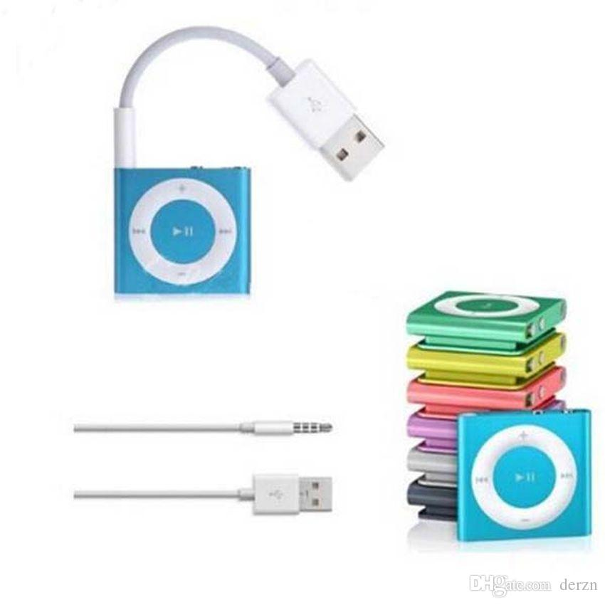 3.5mm USB 2.0 Charger SYNC Cable M to M Audio Headphone Jack Cord 10cm New for Apple Ipod Shuffle 3rd 4th 5th 6th Gen White