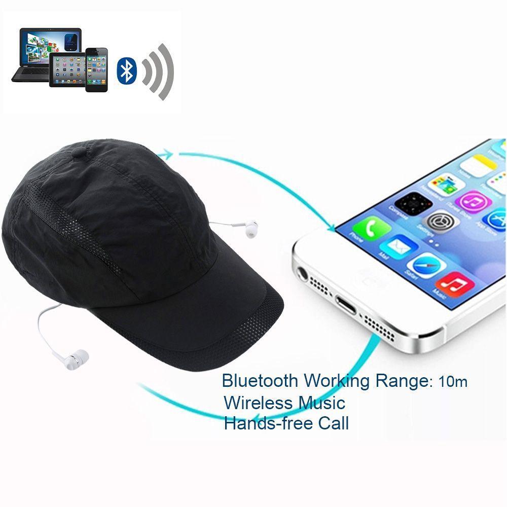 Musique Sun Hat Bluetooth Casque BT 4.0 EDR Stéréo Écouteur Sport Peaked Casque Casque Mains Libres pour Smart Phones Tablet PC