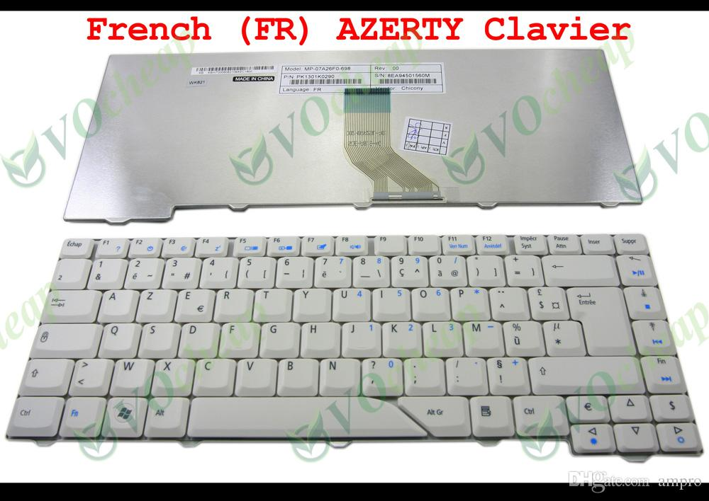 New AZERTY Notebook Laptop keyboard for Acer Aspire 4710 4220 4320 4520 4720 5300 5310 5720 5920 5930 6930 White Grey French FR