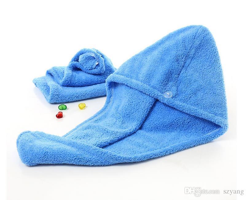 Magic Quick Dry Hair Shower Caps Microfiber Towel Drying Turban Wrap Hat Caps Spa Bathing