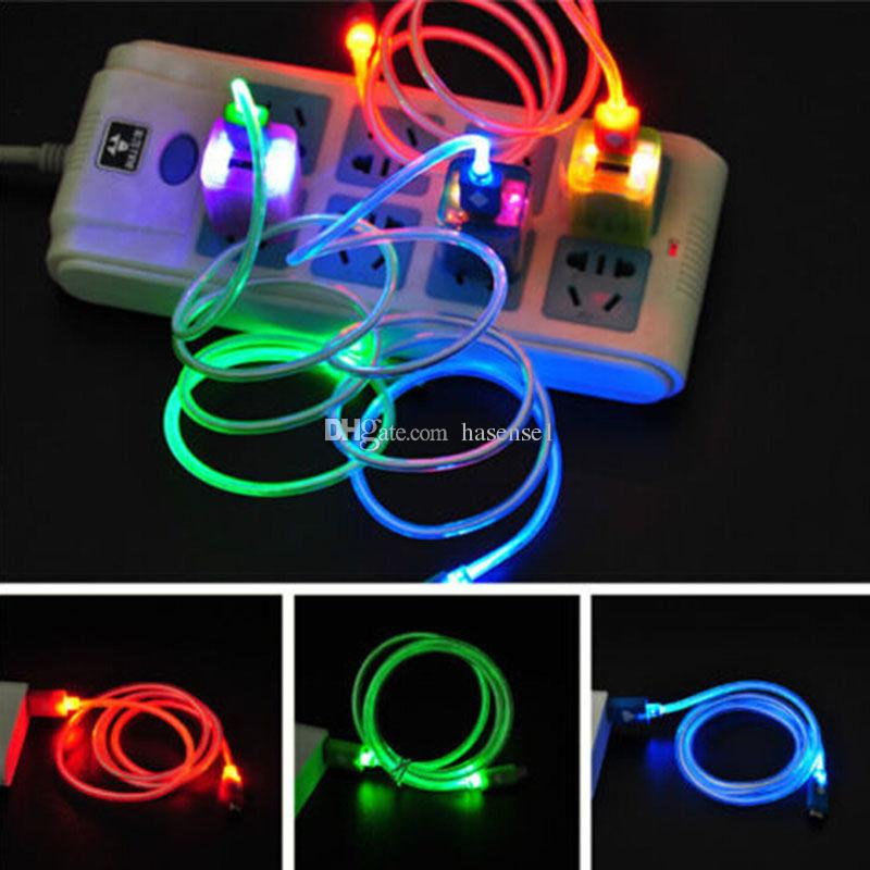 Lighting Micro Usb Date Cables V8 Usb Cable Crystal Led Luminous ...