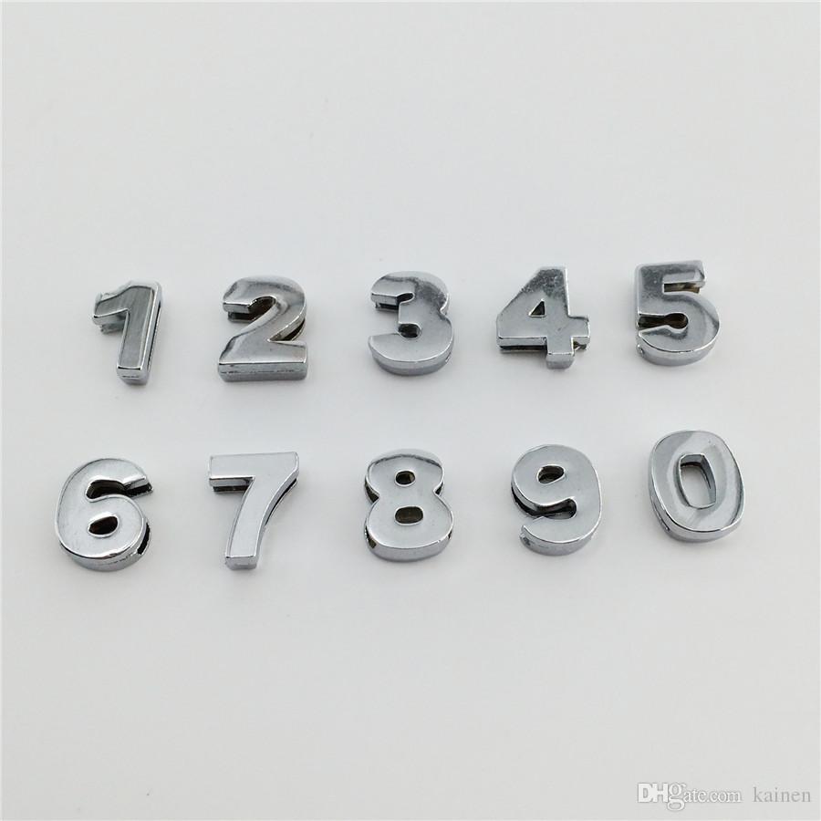 Commercio all'ingrosso 50 Pz / lotto 10 MM Numeri Scorrevoli