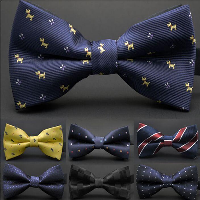 Pajaritas de seda coreanas Ajustar la hebilla Bowknot de los hombres es Corbata Corbata de trabajo para el lazo del día del padre Regalo de Navidad DHL gratis FedEx
