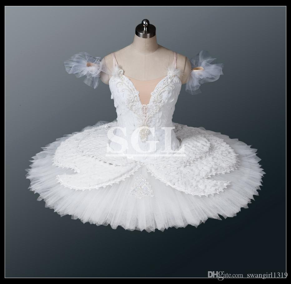 60d11cc20 2018 Girls White Swan Lake Ballet Tutu For White Princess Show Performance  Or Competition Snow Flake In Nutcracker Child Size At1118 From Swangirl1319  .