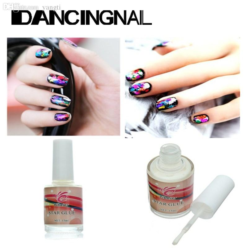 Wholesale 15ml Star Nail Art Glue For Adhesive Foil Sticker Transfer ...