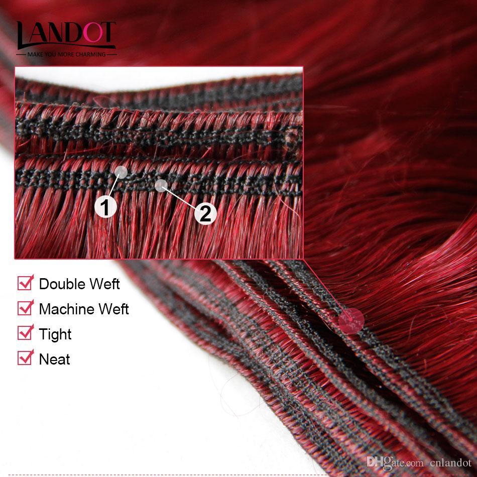 Бургундия бразильский объемная волна девственные человеческие волосы ткать пучки перуанский Индийский малайзийский камбоджийский цвет 99J Красный Реми наращивание волос 8а класс