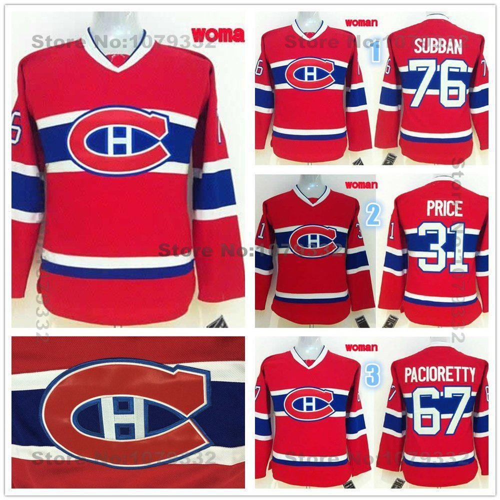 2019 Womens Montreal Canadiens Hockey Jerseys Ladies  67 Max Pacioretty  31  Carey Price  76 P.K. Subban Jersey Home Red Stitched Logo From Cn Sell ff5124f24
