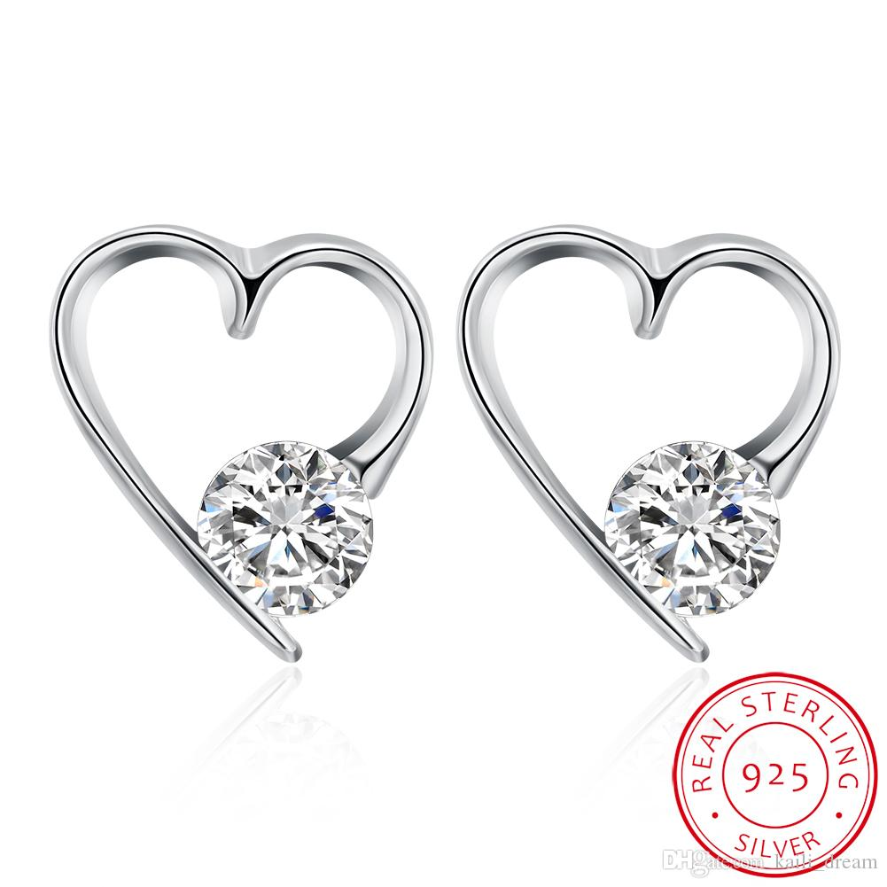 heart genuine gold earrings shaped products stud diamond yellow natural