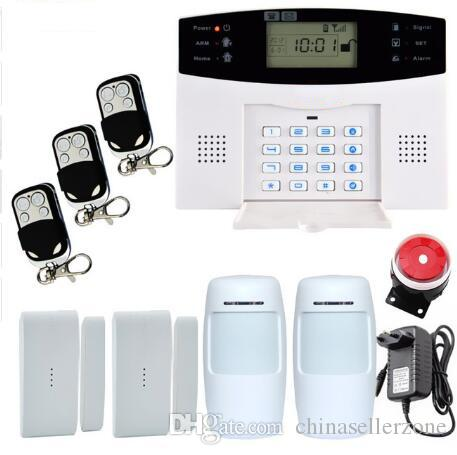 Smart Russian Spanish English French Voice Lcd Gsm Alarm System Wireless  And Wired Home Alarm System Burglar Alarm System Security Alarm Systems  Security ...