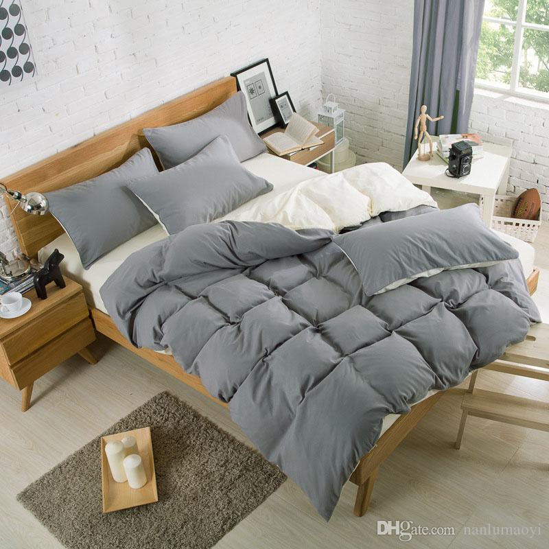 New Bedding Sets Bed Sheets Pillow Comforter Covers Sets Pillowcase Winter  Warm Soild Color Four Piece Set Designer Bedding Sets Bedding Quilts From  ...