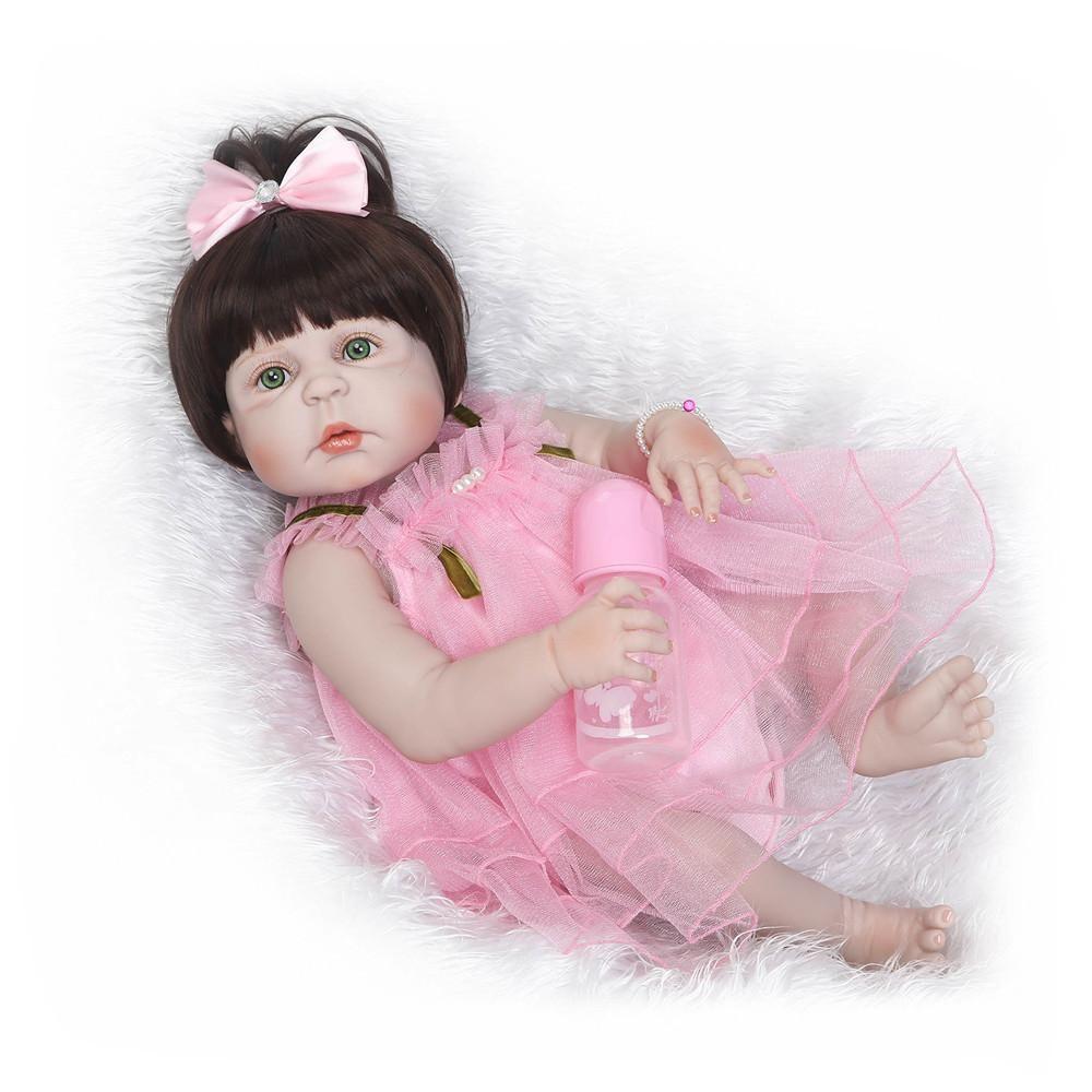 Npk Doll 50cm Soft Silicone Reborn Baby Realistic Doll 20 Inch Full Vinyl Reborn Boneca Bebe Reborn Doll For Girl Birthday Gift Various Styles Dolls & Stuffed Toys