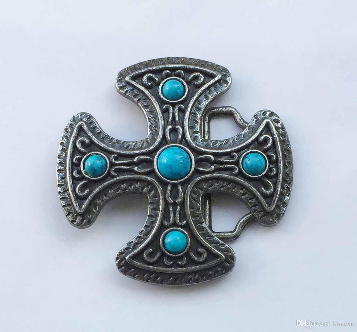 Cross belt buckle religious Belt Buckle with pewter finish SW-BY0178 suitable for 4cm wideth belt with continous stock