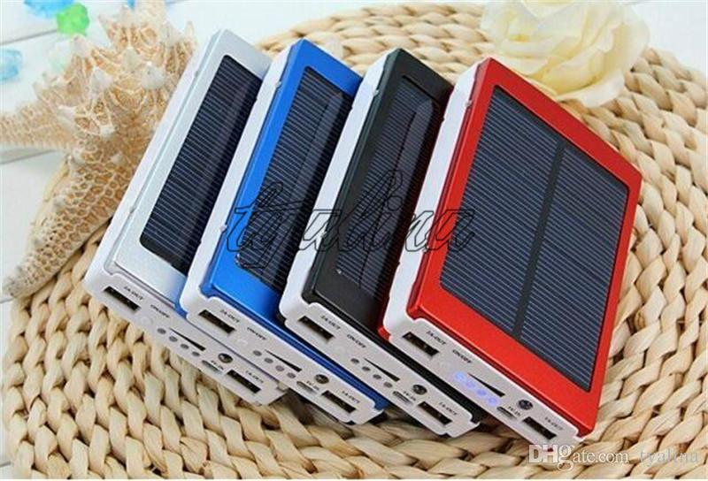 Portable 30000 mAh Solar Battery Panel external Charger Dual 30000mah solar Charging Ports choose for Laptop Cellphone Power Bank