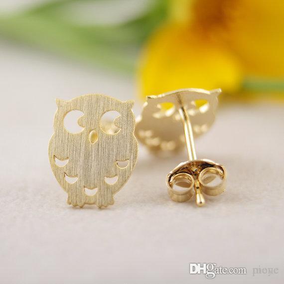 57eefc5d6 2019 Fashion Gold Silver Owl Stud Earrings Animal Stud Earrings For Women  Wholesale Jl 173 From Pione, $2.51 | DHgate.Com