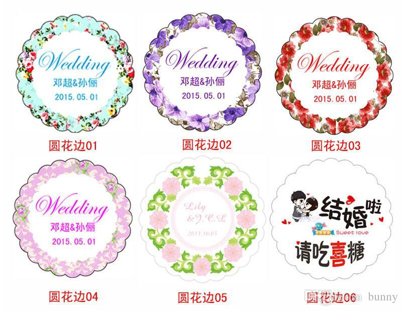 Online cheap personality customized tags round favor card and thank you cards flowers design stickers labels 2016 spring style by bunny dhgate com