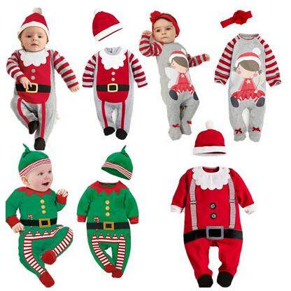 7edcd02c4 2018 Christmas Baby Rompers Costume Kids Newborn Clothes Long Sleeve ...