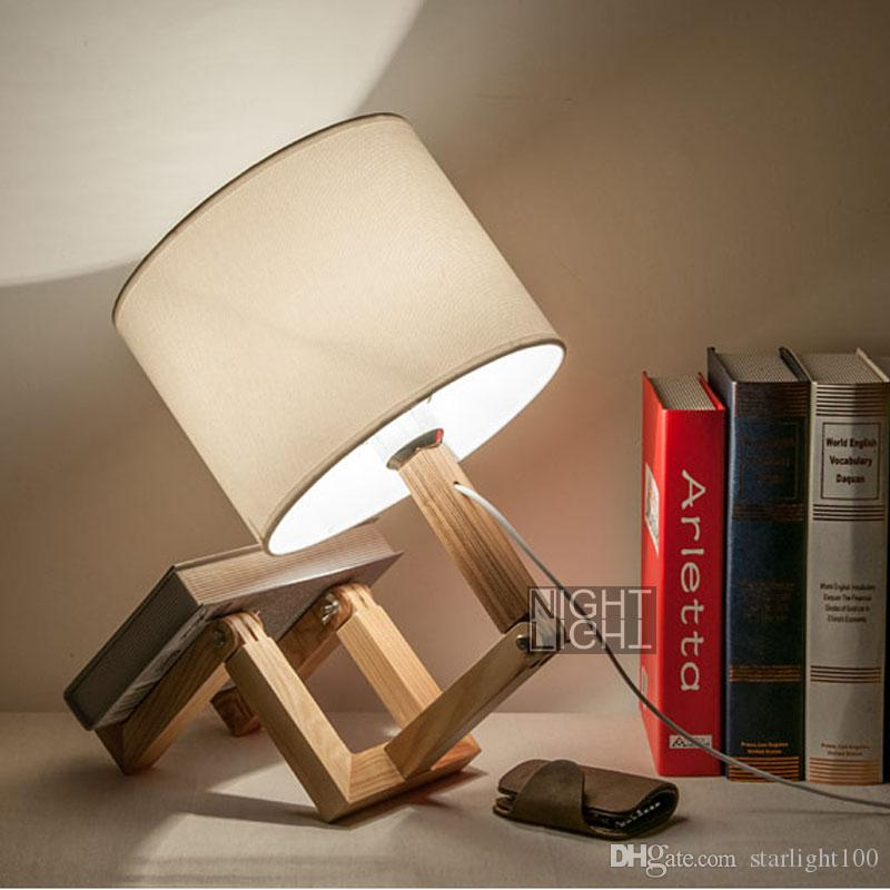 Modern adjustable wooden lamp man shape table lamps creative table lamp study room desk lamp fabric lamps shade decoration lighting 2018 modern adjustable wooden lamp man shape table lamps creative table lamp study room desk lamp fabric lamps shade decora Gallery