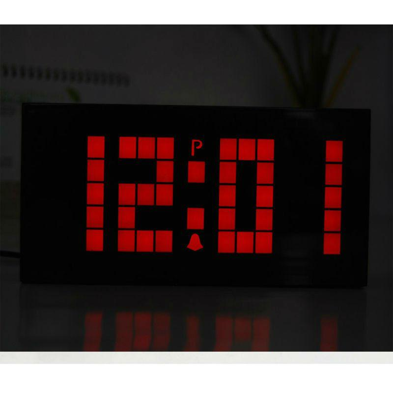 Led Clock Digital Snooze Alarm Simple Wall Smart Calendar Temperature Mute Decor Contemporary Clocks