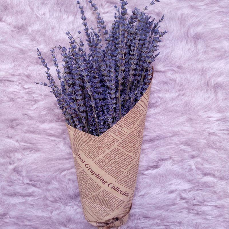 Natural Dried Flowers Long Ear UK Blue Dried Lavender Bouquet ...