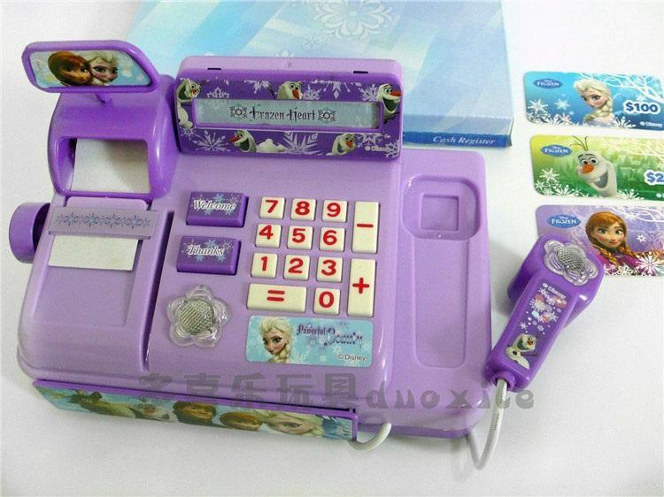2015 New Baby Boys Girls Frozen Cash Register Kids Elsa Anna Pretend Play Furniture Toys Children Educational Interactive Toys