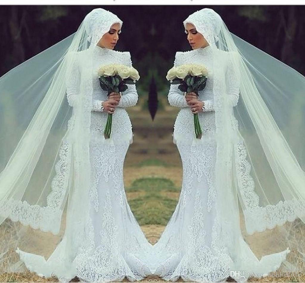 2015 Muslim Brides Long Veils Covering Fabric Hui Muslim Veils Cheap ...