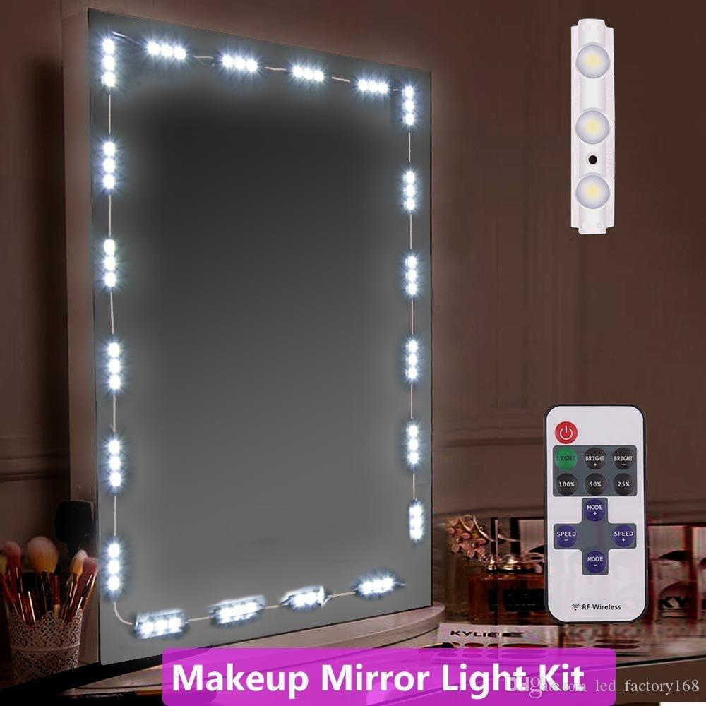 Hot Sale Makeup Mirror Light 10FT 60LED Mirror with Remote and Dimmer Switch Vanity Light Kit DIY Cosmetic Hollywood Make Up Mirror