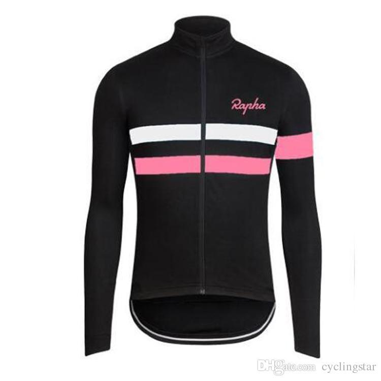 Heiße neue Herbst Radfahren Kleidung mit langen Ärmeln Rapha Radtrikots Rennrad Shirt atmungsaktivem Bike Wear L0701