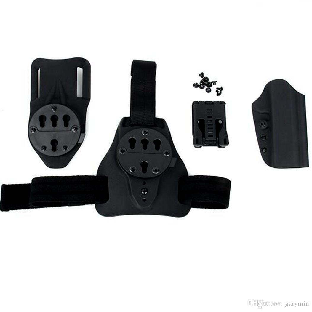 Hunting Tactical Quick Detached tres combinaciones de Base Plate 1911 Kydex Holster set ht605