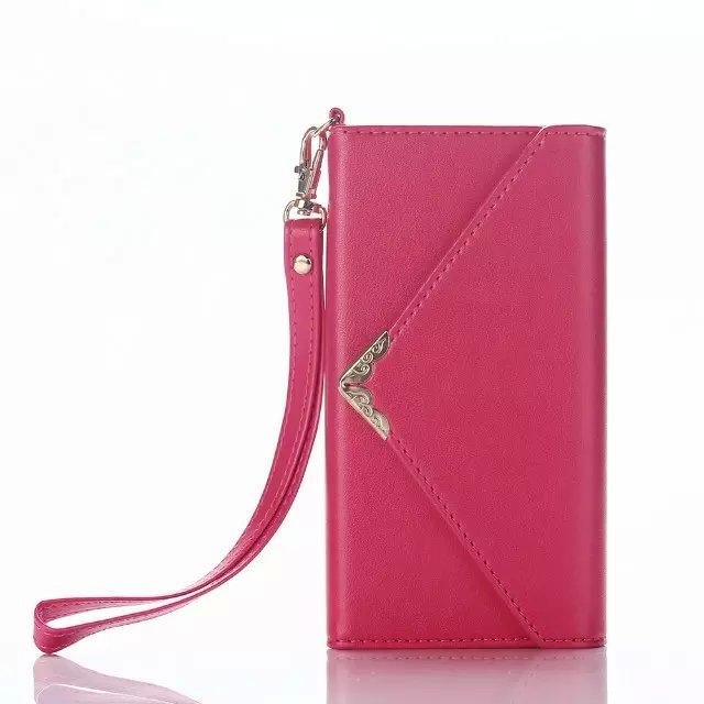 Envelope Wallet Leather Case For Iphone 7 I7 6S 6 plus Iphone7 Fold Rope Photo Frame Money ID Card Pouch Purse TPU Clutch Fashion Bag Cover