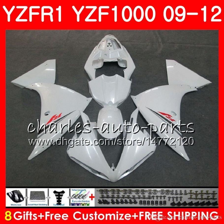 Bodywork For YAMAHA YZF 1000 R 1 YZF-1000 YZF-R1 09 12 Body Pearl White 85NO32 YZF1000 YZFR1 09 10 11 12 YZF R1 2009 2010 2011 2012 Fairing