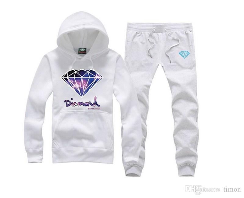 New Fashion Diamond Supply swea Mens Sportswear, Male Casual Sweatshirt, Man Brand hiphop Sports Suit, Men Leisure Outdoor Hoodie Tracksuit!