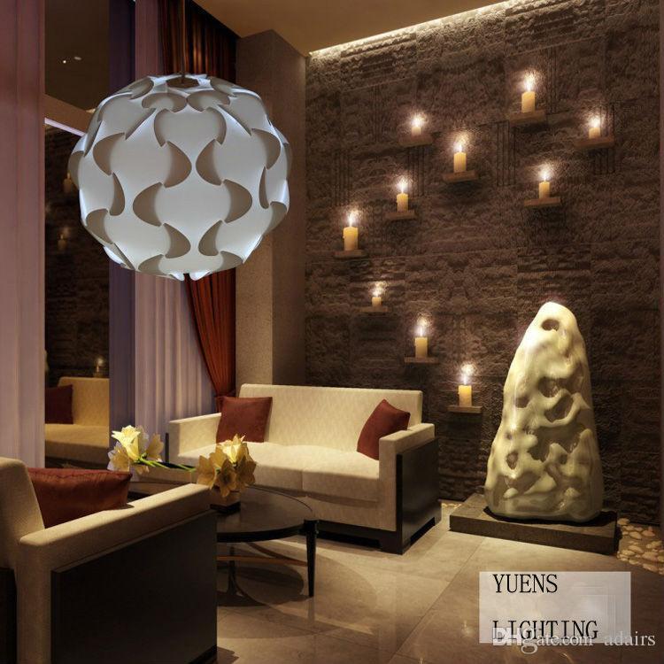 Creative Diy Combination Iq Corridor L& Bar Restaurant White Color Pendant LightsSize 50cm Ysliqw14 Pendant Ceiling Lights Hanging Pendant Lights From ... & Creative Diy Combination Iq Corridor Lamp Bar Restaurant White Color ...