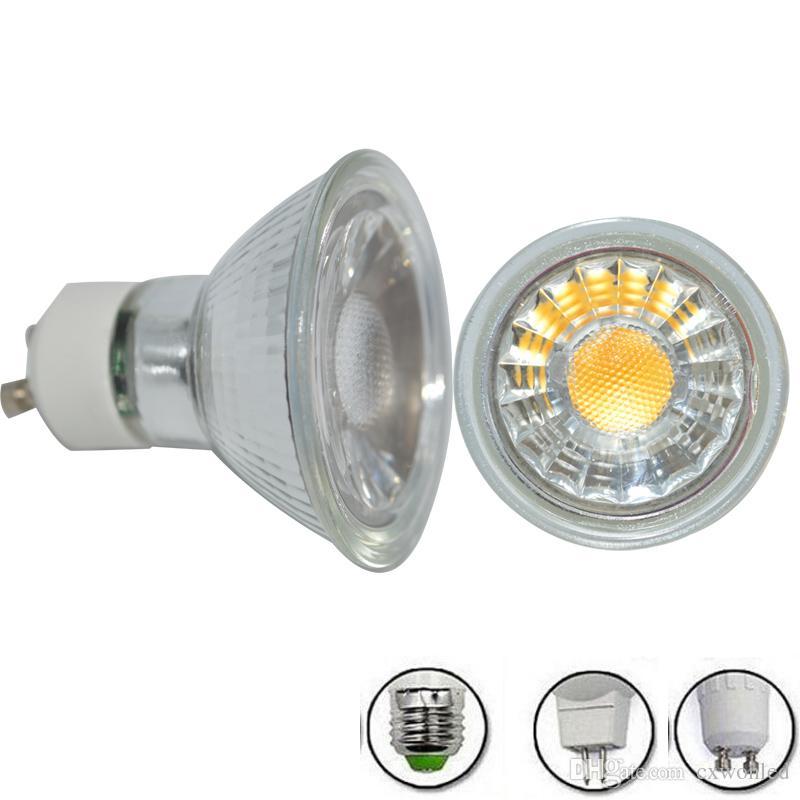 Lampe en verre de quartz COB Spot LED MR16 GU10 5W 110v 220v haute lumineux Le verre de quartz MR16 Dimmable LED projecteur et non dimmable avec le meilleur