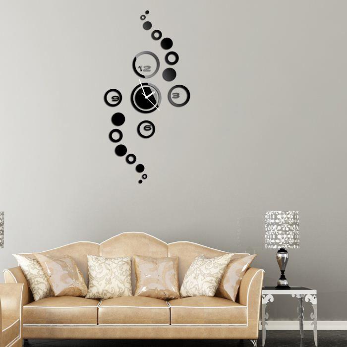 19 daire duvar saati modern tasarım lüks ayna duvar saati, 3d kristal ayna duvar saatleri duvar saatleri 4 sayı toplamı.