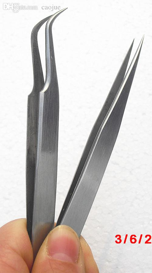 Wholesale High Quality Lash Extension Tweezers Curved And