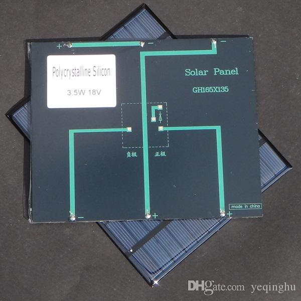 3.5 W 18V Polycrystalline Solar Cell Module Solar Panel For Charging 12V Battery DIY Solar Charger System 165*135*3MM