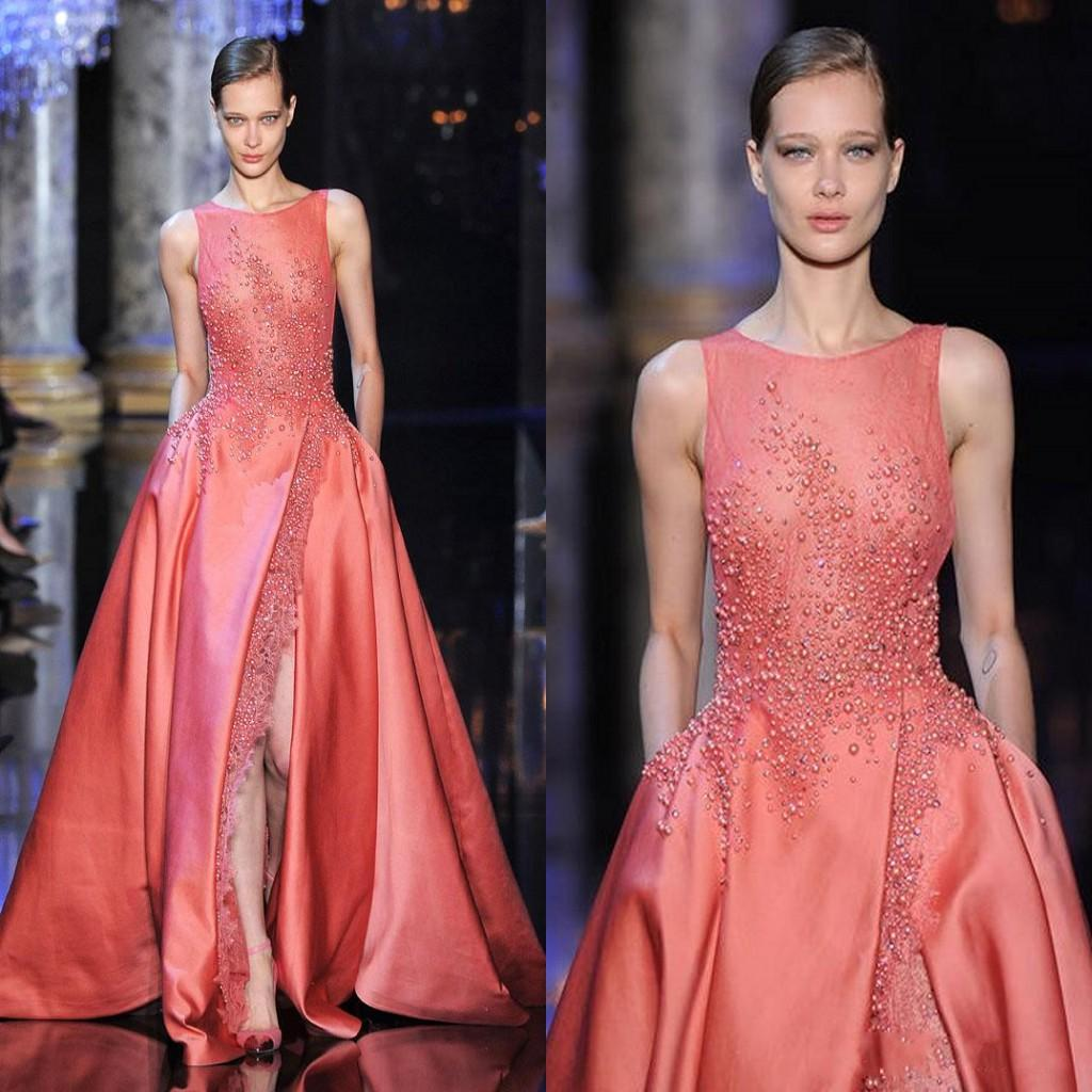2015 Elie Saab Evening Dresses Jewel With Split Zipper Back Side ...