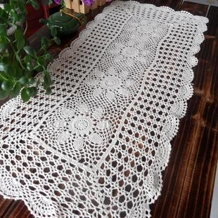 Cotton Crochet Tablecloth Table Cover Towel For Coffee Table Cutout