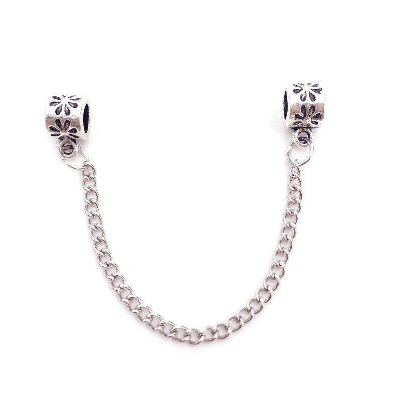 Safty Chain For Charm Bead Bracelet Fashion Women Jewelry 925 Silver Stunning Design European Style For Pandora 9cm Length