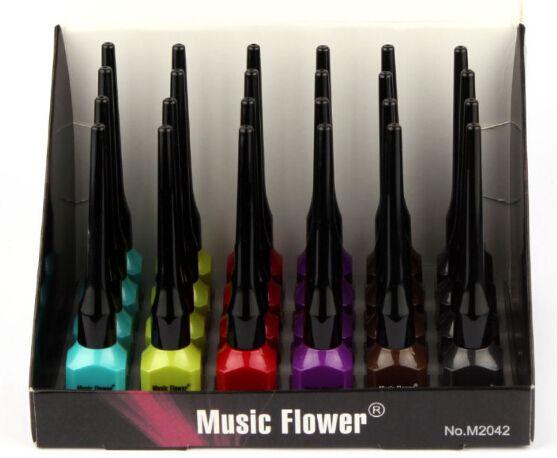Wholesale-2017 Eye Liner Delineador Music Flower Professional Fashion Color Makeup Color Liquid Eyeliner Water-proof