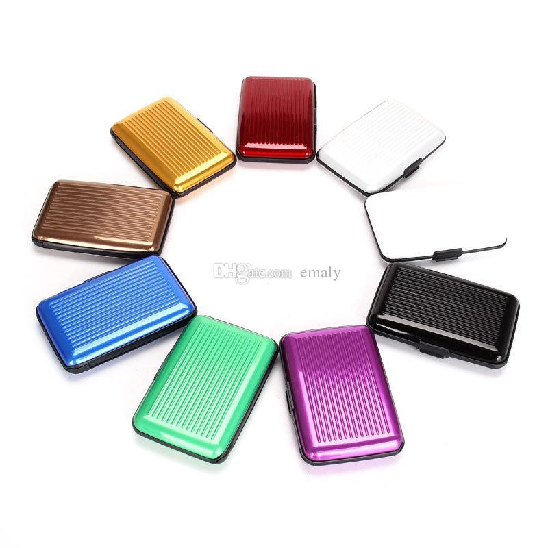Hot Aluminium Credit card wallet case card holder bank case aluminum wallet variable colour for