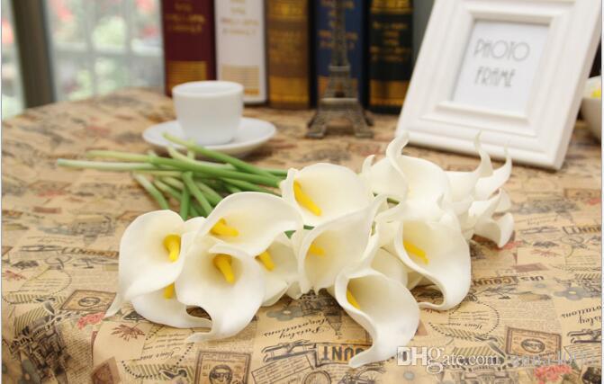 Simulazione fiore Pu Mini Calla fiore all'ingrosso fiore decorazione maniglia singolo ramo
