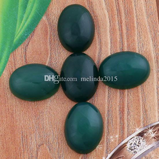 15x20mm Green Agate Rhodonite Natural Stone Oval Beads Cabochon Bead Jewelry Findings Accessories Diy Jewelry Making