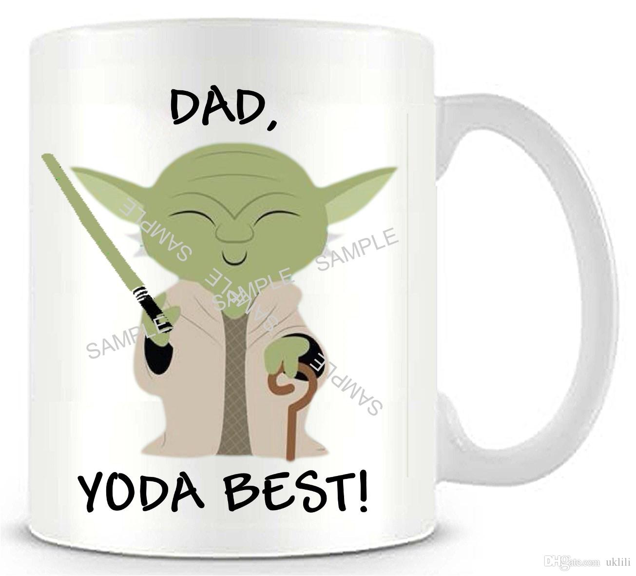 Coffee cups funny - Star Wars Yoda Best Ceramic White Coffee Mug Cup Funny Novelty Travel Personalized Mug Christmas Gifts Stacked Coffee Mugs Stacking Coffee Mugs From Uklili