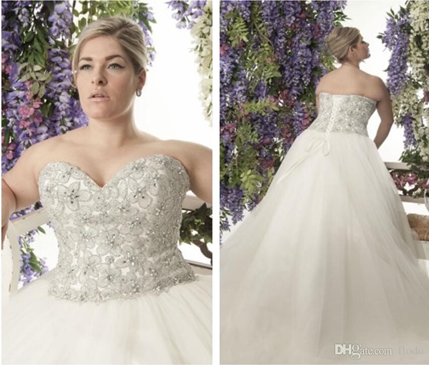 Plus Size Corset Ball Gown Wedding Dresses | Wedding
